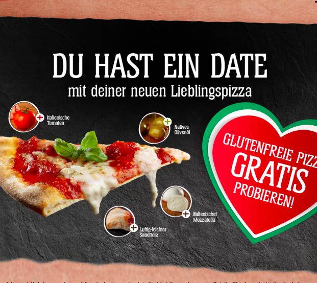 Schär Pizza (gluteinfrei) gratis testen dank Geld zurück Garantie