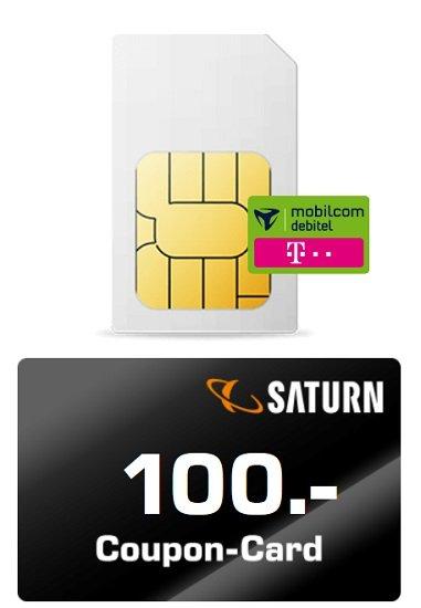 Knaller! Telekom Datenflat mit 15GB LTE (150 Mbit/s) für 9,99€ mtl. + 100€ Saturn oder Media Markt Coupon