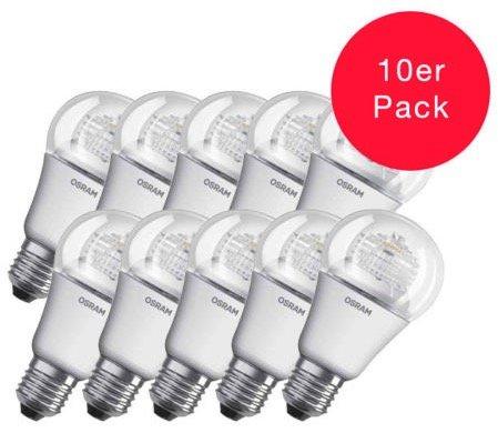 10er-Pack Osram Star 8W E27 LED-Birnen für 19,99€ inkl. Versand
