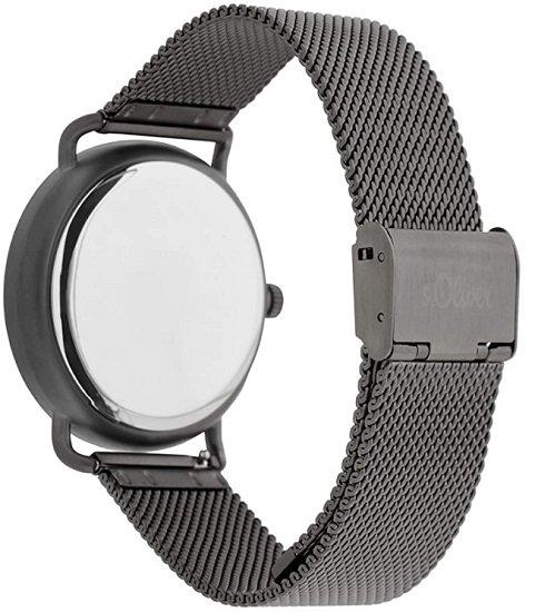 s.Oliver Herren Analog Quarz Uhr mit Edelstahl Armband