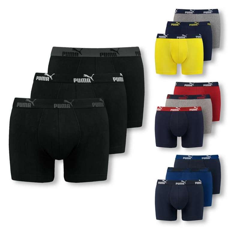 6er Pack Puma Boxershorts in schwarz und gelb für 24,49€ inkl. Versand  (statt 40€)