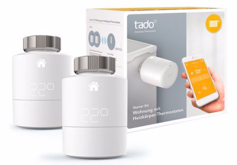tado v3 Smartes Heizkörper-Thermostat Starter Set (2 Thermostate + Bridge) 139€