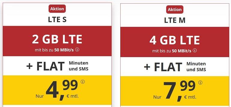 PremiumSIM o2 Allnet-Flat 2GB LTE Datenvolumen 2