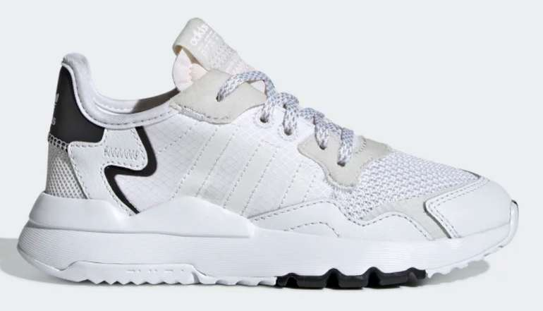 adidas Nite Jogger Kinder Schuh in Schwarz/Weiß für 28€ inkl. Versand (statt 50€)