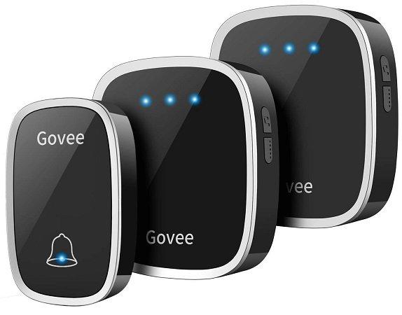 Govee Funk Türklingel-Set, 1 Sender und 2 Plug-in Empfänger für 12,99€ - Prime