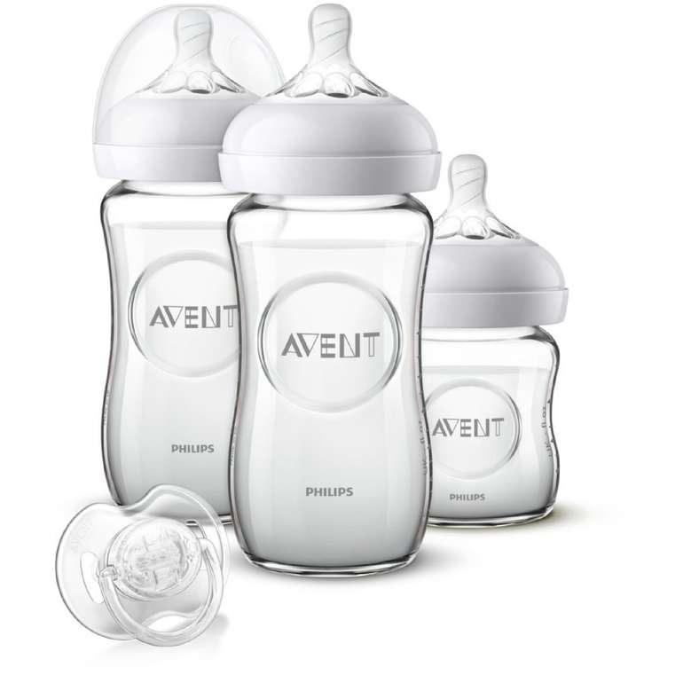 Philips Avent Natural Glas Flaschen-Set für Neugeborene (SCD303/01) für 27,02€ inkl. Versand (statt 36€)