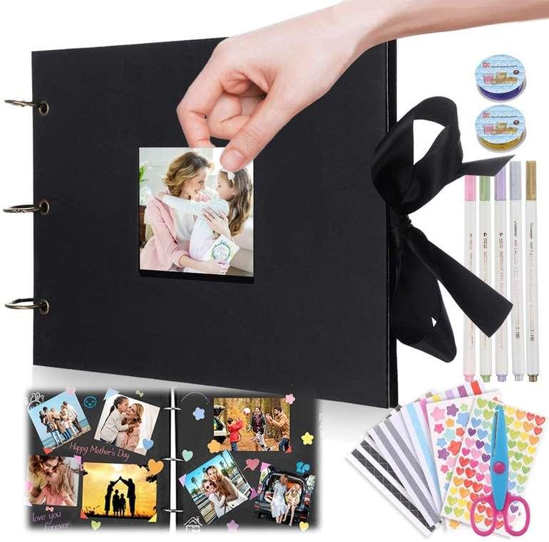 Jeteven Fotoalbum zum Selbstgestalten (80 Seiten, inkl. Aufkleber, Schere & Stifte) für 10,79€ inkl. Prime Versand