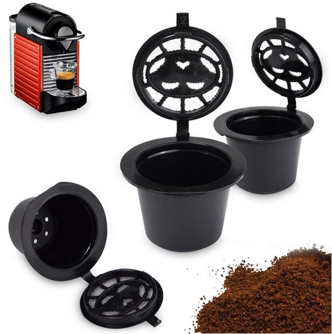 Nachfüllbarer Edelstahl Kaffeekapselhalter (Nespresso kompatibel) für 1,32€