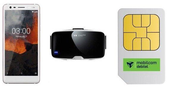 o2 Smart Surf Tarif mit 1GB LTE (21,6MBit/s) + Nokia 3.1 + Zeiss VR zu 3,99€ mtl