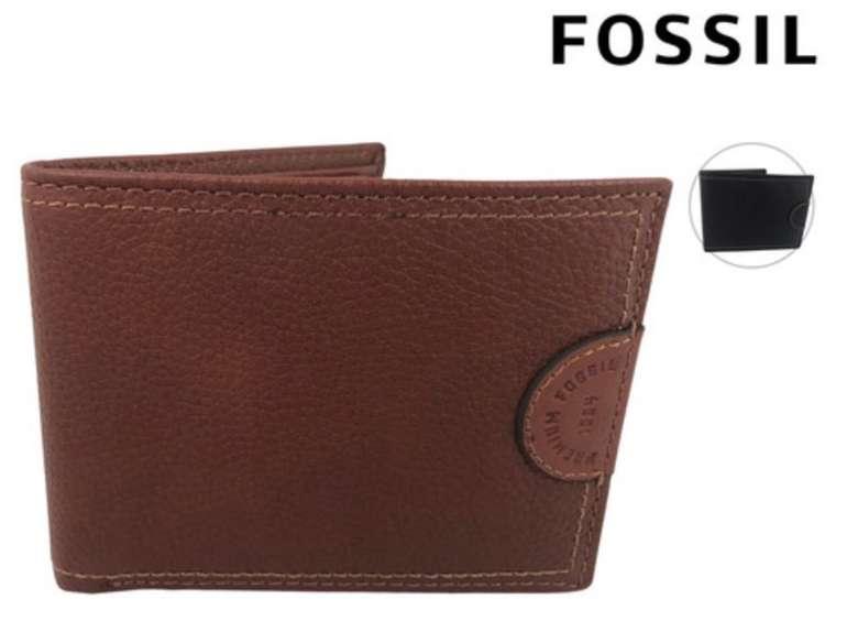Fossil Herren Leder-Portemonnaie (Rindsleder, 9 Steckplätze für Karten) für 8€ inkl. Versand (statt 30€)