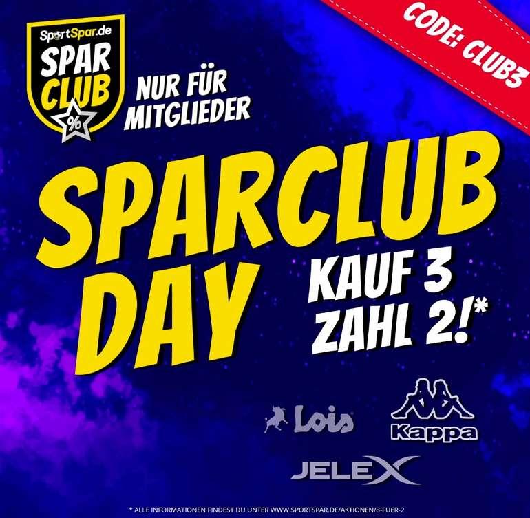 SportSpar Sparclub Day: Kauf 3 Kappa, Lois oder Jelex Produkte und zahle nur 2 davon (SparClub Member!)