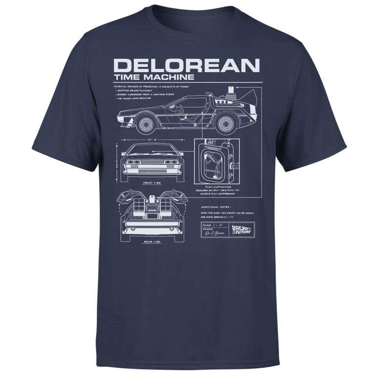Zurück in die Zukunft Bundle: Delorian T-Shirt + Untersetzer + Tasse für 13,99€ inkl. Versand (statt 32€)