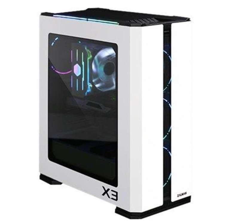 Zalman X3 Midi Tower (ATX, 41L, 4x 120mm aRGB-Lüfter, LED-Steuerung, Glasfenster) für 46,94€ (statt 93€)