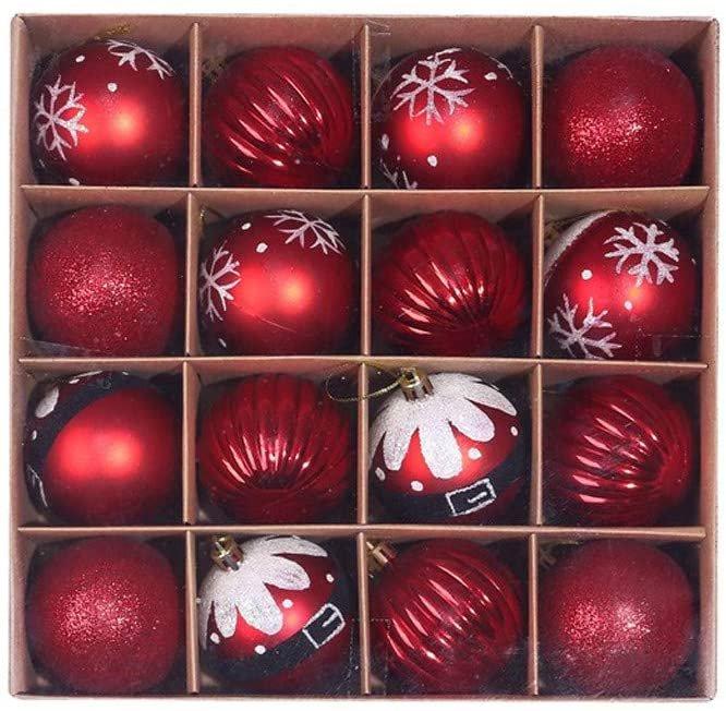 Zwxin 16er Pack Christbaumkugeln (6 cm, 12 Farben) für je 7,98€ inkl. Versand (statt 15€)