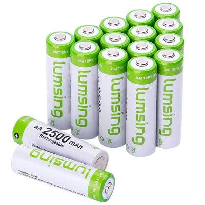 Lumsing wiederaufladbare AA Batterien (16 Stück) für 16,09€ inkl. VSK (Prime)