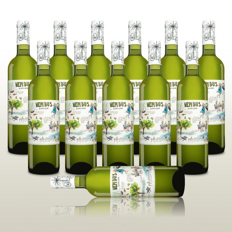 12x Nembus Blanco 2016, leichter Gute-Laune-Weißwein aus Spanien für 33,90€