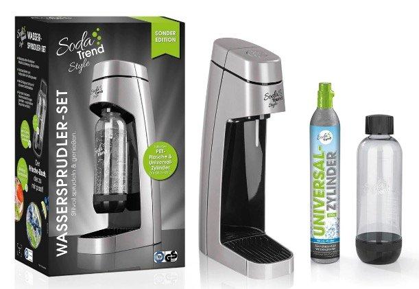 Soda Trend Style Wassersprudler inkl. PET-Flasche + CO2-Zylinder für 49,90€ inkl. Versand (statt 65€)