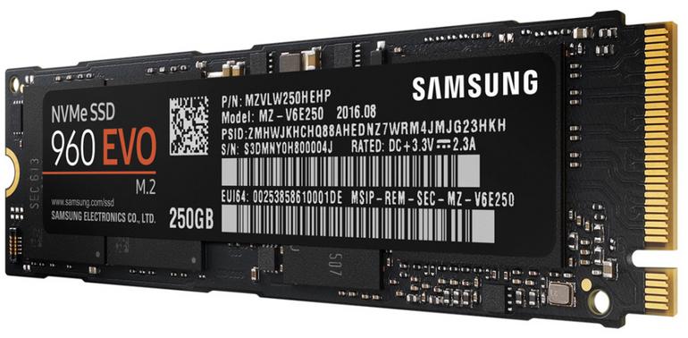 Samsung 960 EVO M.2 SSD (1TB, PCIe 3.0 NVMe) für 269€ inkl. Versand (statt 320€)