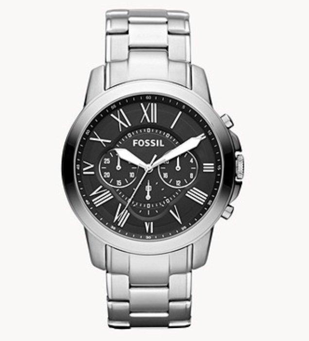 Fossil Juni-Special mit -30% Rabatt auf Herren Uhren & Schmuck - z.B. Herrenuhr Grant für 111,30€ (statt 159€)