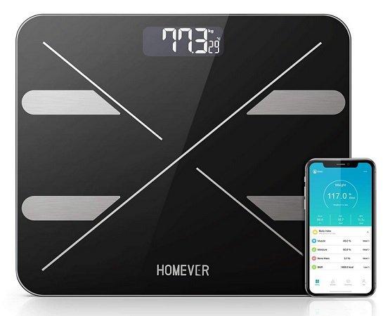 Homever - Digitale Personenwaage mit Bluetooth & APP für 19,97€