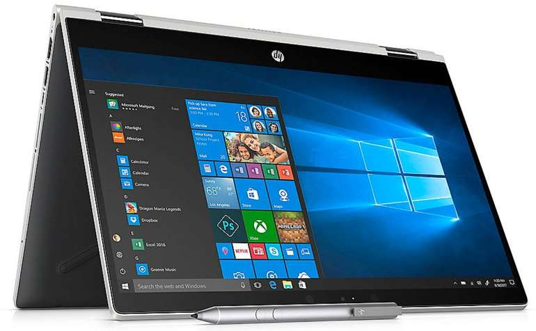 HP Pavilion x360 14-cd0103ng - 2in1 Notebook (i3, Full-HD, Win 10) für 532,90€
