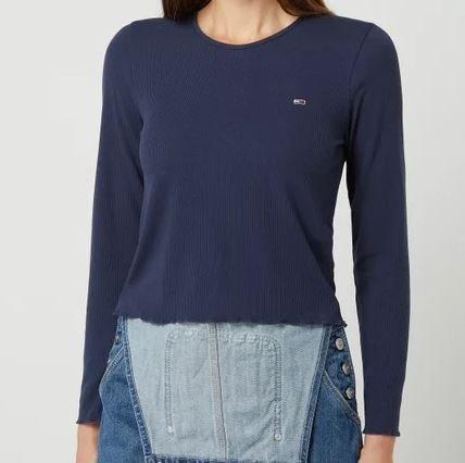 Tommy Jeans Cropped Damen Longsleeve mit Muschelsaum (versch. Farben) für je 26,59€ inkl. Versand (statt 33€)