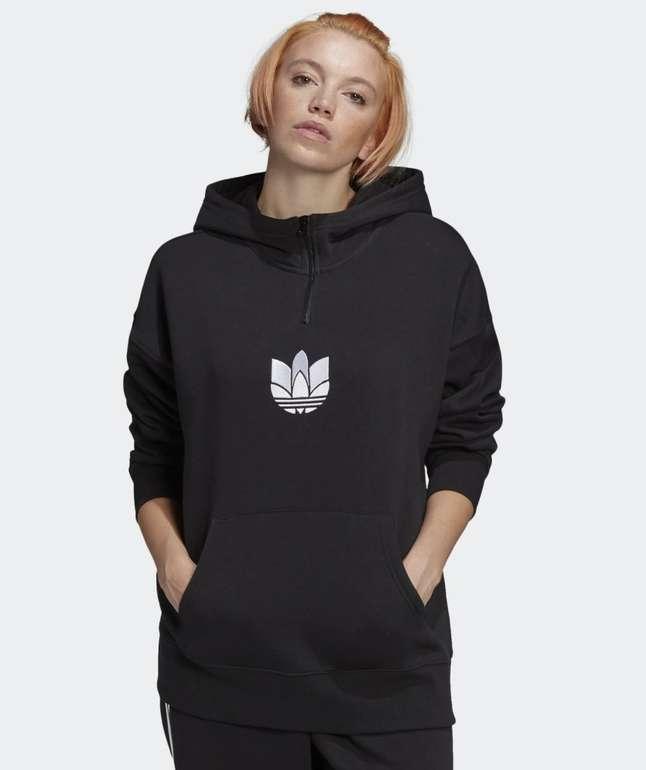 Adidas Adicolor 3D Trefoil Half-Zip Damen Hoodie für 37,41€ inkl. Versand (statt 45€)