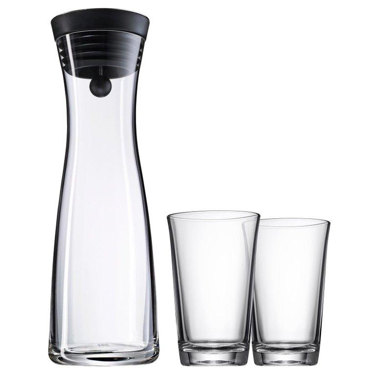 WMF Wasserkaraffe Basic (1 Liter) mit 2 Gläsern nur 24,97€ inkl. Versand