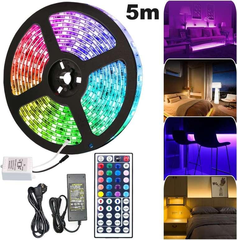 Hengda verschiedene LED Streifen reduziert, z.B. 5 Meter mit 150 LEDs für 13,29€ (Prime)