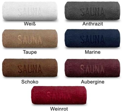 Julido Saunatücher (bestickt, 70x200cm, 100% Baumwolle) für je 9,99€