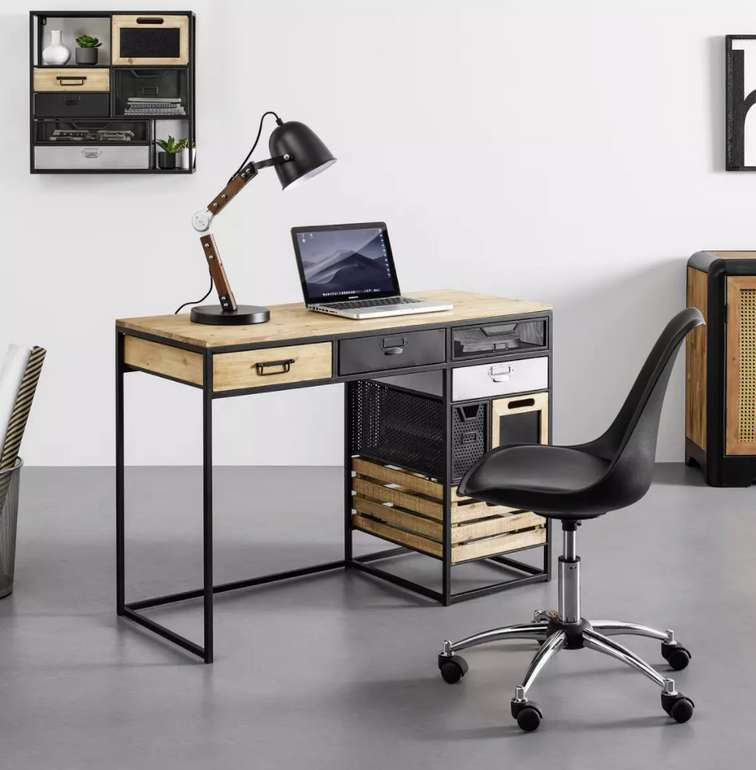 """Bessagi Home Schreibtisch """"Ana"""" in Braun/Schwarz für 224,25€ bei Abholung (statt 300€)"""