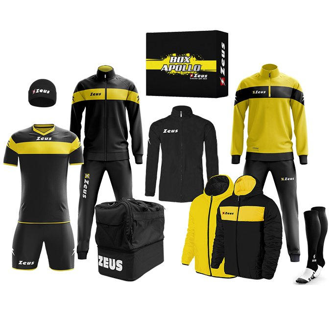 Zeus Apollo Fußball Set Teamwear Box 12-teilig (verschiedene Farben) für je 79,99€ (statt 140€)