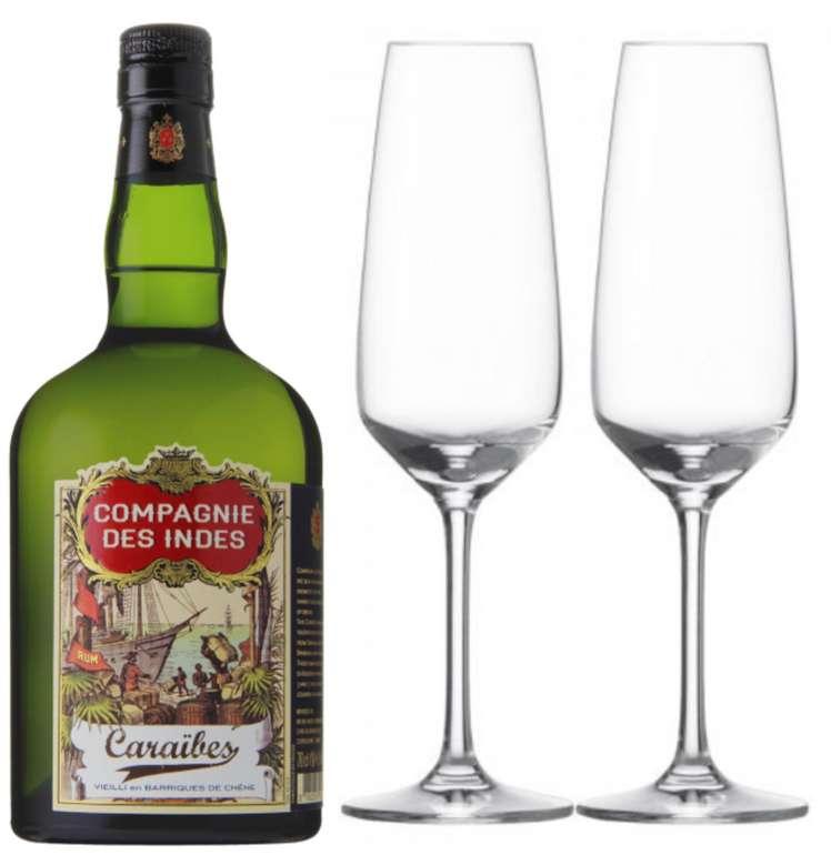 Gratis Set mit 2 Sektgläsern bei Gourmondo Bestellung (ab 17,10€versandkostenfrei) z.B Compagnie Des Indes Rum für 22€
