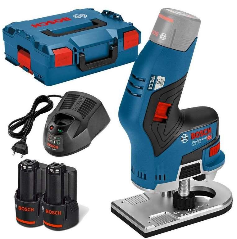 Bosch Kantenfräse GKF 12V-8 + 2x 3,0Ah Akku + L-Boxx für 147,83€ inkl. Versand