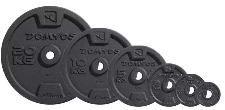 Domyos Hantelscheiben aus Gusseisen (wahlweise 0,5 bis 20kg) ab 4,99€ inkl. Versand