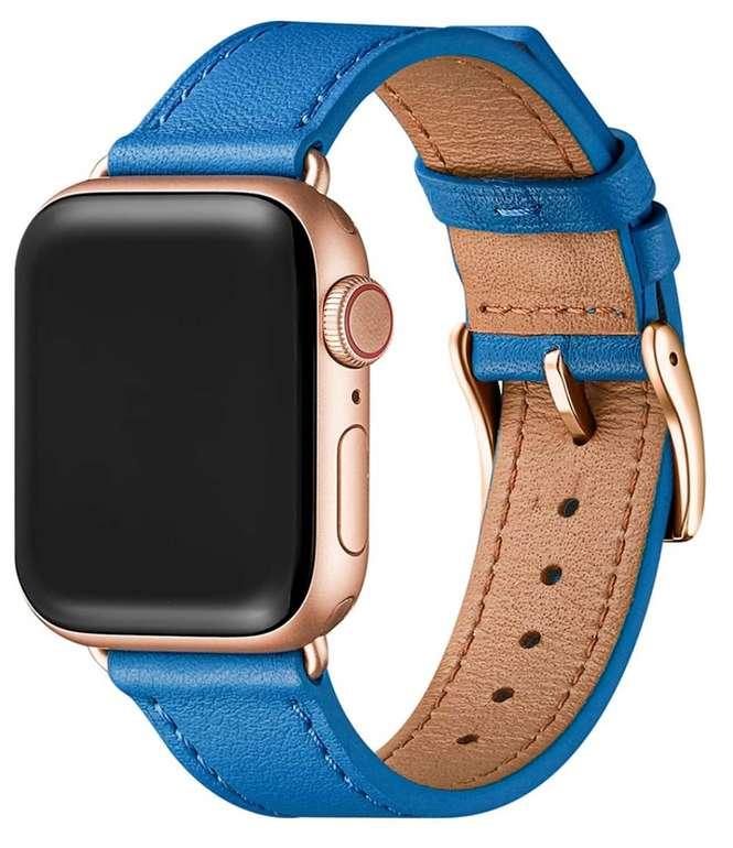 POIUY Echt Lederband für die Apple Watch zu 8€inkl. Primeversand  (statt 20€)