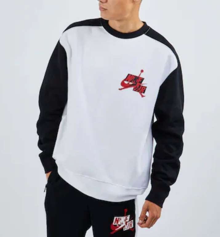 "Nike Air Jordan Classics Fleece Crew Sweater im ""Black/White""-Design für 39,99€ (statt 66€)"