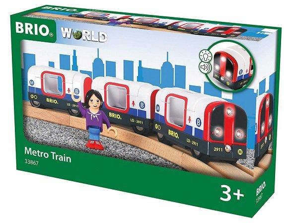 BRIO World 33867 - U-Bahn mit Licht und Sound für 9,72€ mit Prime (statt 22€)