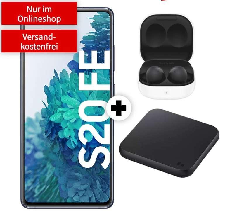 Samsung Galaxy S20 FE + Buds2 + Charger Pad (29€) + MD Vodafone green LTE 5GB Spezial für 19,99€ mtl.