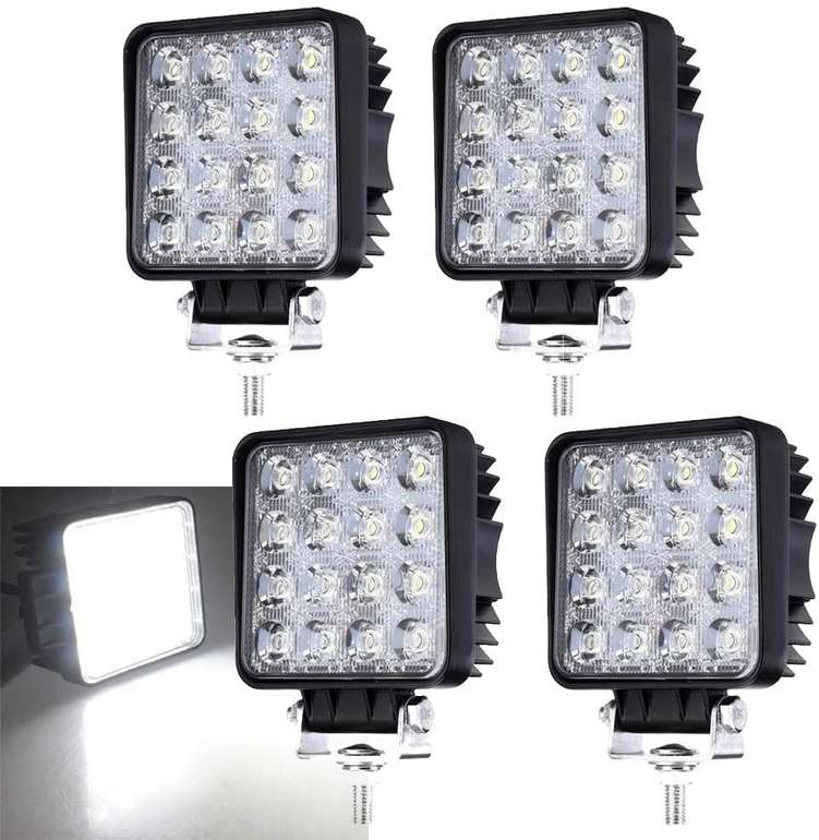 Hengda LED Arbeitsscheinwerfer mit 48W reduziert, z.B. 4er Pack für 20,99€ (statt 30€)
