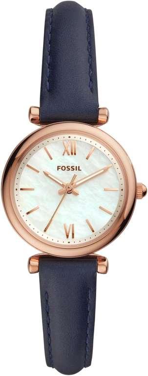 Fossil Damenuhr Carlie Mini Leder Marine (ES4502) + gratis Gravur für 26,70€ inkl. Versand (statt 62€)