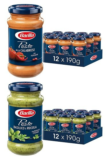 12er Pack Barilla Pesto (verschiedene Sorten) ab 22,69€ - Prime!