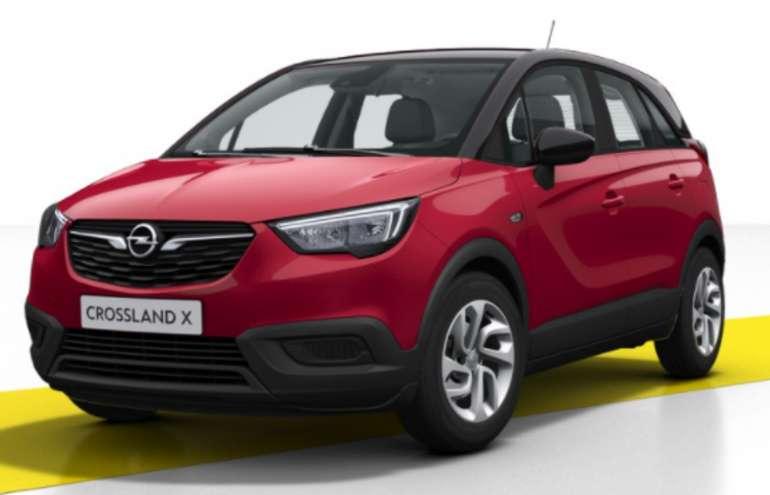 "Gewerbeleasing: Opel Crossland X in ""Chili-Rot"" mit 110 PS für 89€ mtl. (LF: 0,54)"