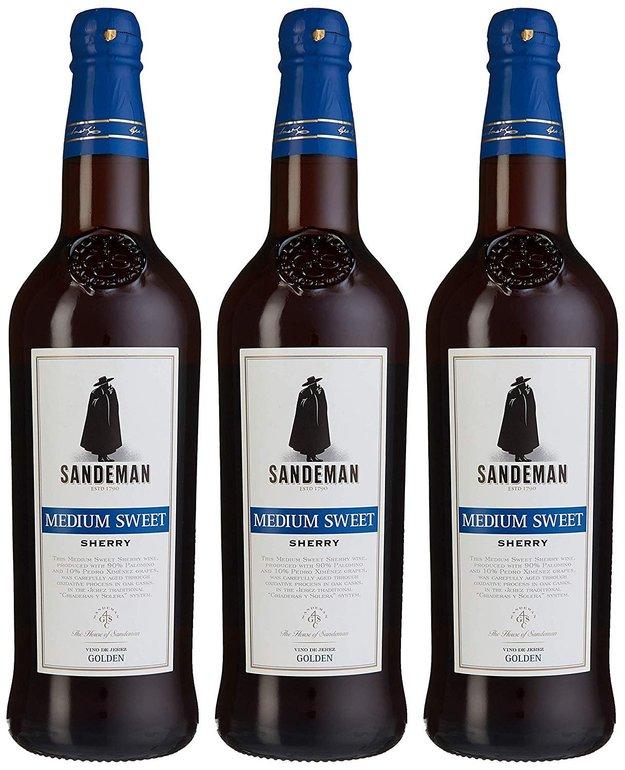 Sandeman Medium Sweet Sherry (3 x 0.75 l) für 11,70€ - Prime!