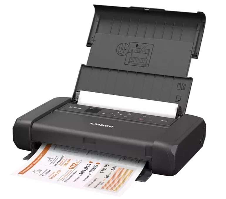 Canon Pixma TR150 portabler Tintenstrahldrucker: ohne Akku (A4, 9/5.5 S/min, 50 Blatt, USB-C, WLAN) für 189€ / mit Akku für 239€