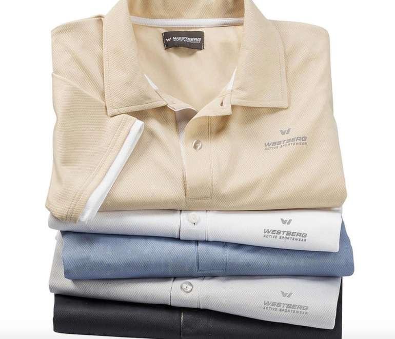 5er Pack Westberg Active Sportswear Funktionspolos für 28€ inkl. Versand
