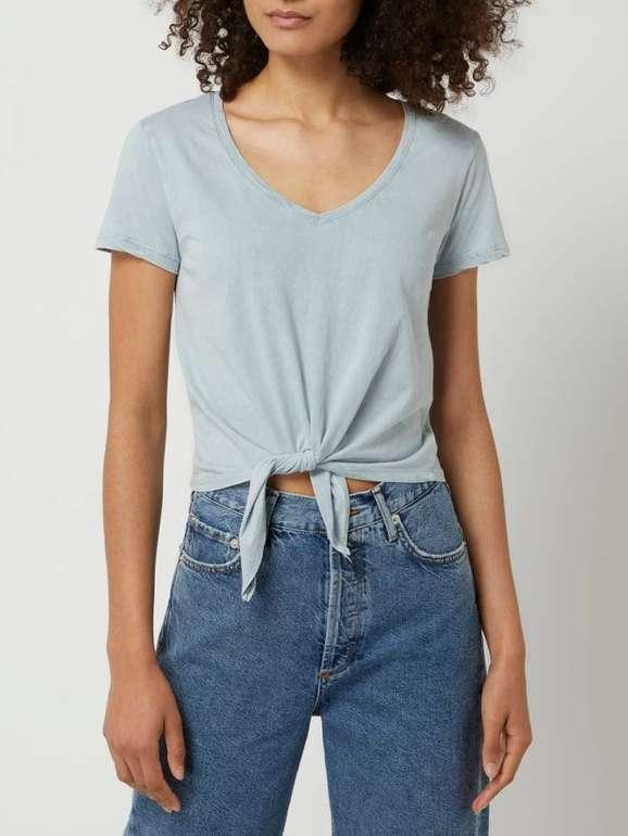 Review Cropped Damen T-Shirt mit gebundenem Saum in 5 Farben für je 8,49€ inkl. Versand (statt 15€)