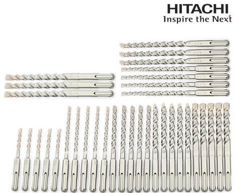 Hitachi SDS-Plus Beton/ Mauerstein Bohrerset 35tlg. für 45,90€ inkl. Versand