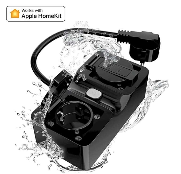 HomeKit Outdoor Steckdose (kompatibel mit Alexa und Siri) für 25,29€inkl. Prime Versand (statt 36€)
