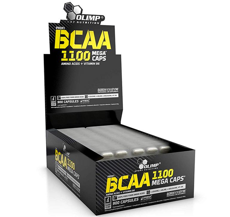 Preisfehler? Olimp BCAA Mega Caps 1100 Blister Box, 900 Kapseln je 13,75€
